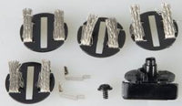 Scalextric C8329 Deep Guide (screws in) & 4 Braid Plates