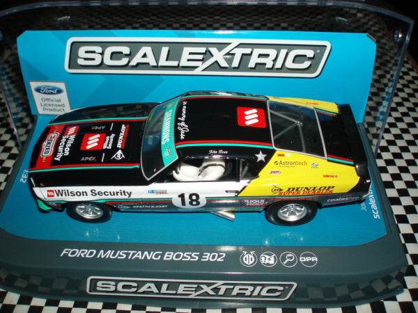 C3728 Scalextric Ford Mustang Boss 302 John Bowe Clipsal 500