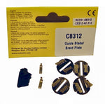 Scalextric C8312 Clip in Guide with 4 braid plates