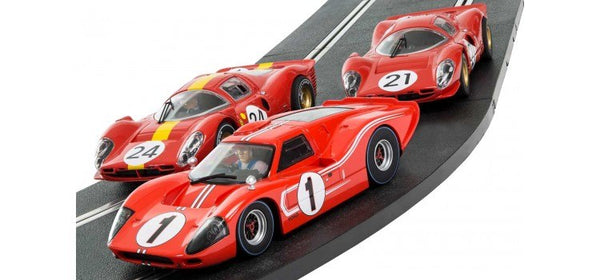 C3892A Scalextric Legends Set 1967 Le Mans Triple Pack