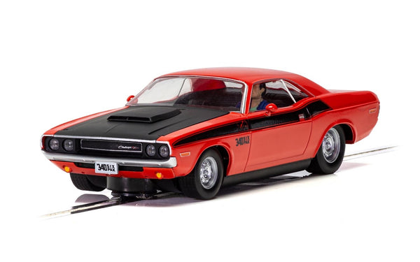 C4065 Scalextric Dodge Challenger Red & Black