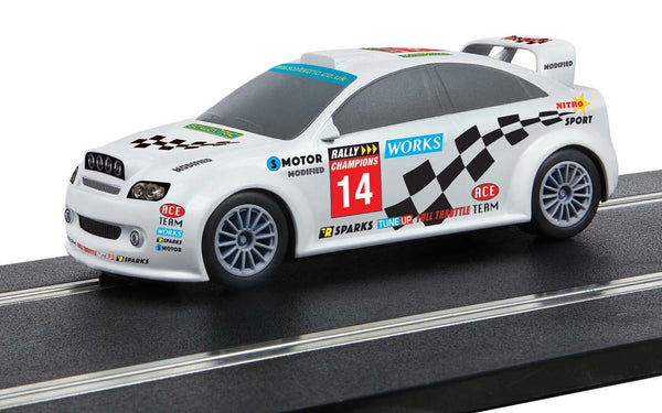 C4116 Scalextric Start Rally Car White