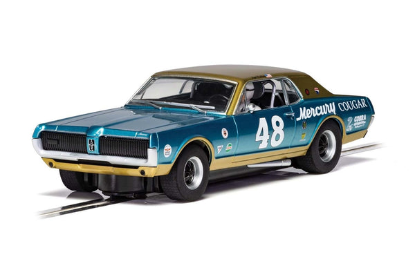 C4160 Scalextric Mercury Cougar Blue/Gold