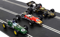 C4184A Scalextric The Genius of Colin Chapman - F1 Lotus Triple Pack **Pre-order**