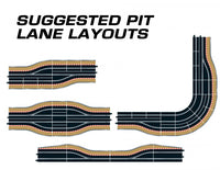 C7014 Scalextric Digital Pit Lane Track (Left Hand)