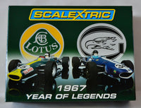 C2923A Scalextric 1967 Year Of Legends F1 Twin Pack Lotus and Eagle