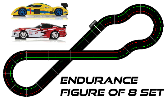SW12 Endurance Figure of 8 Set - all Scalextric items
