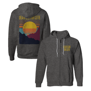 Sunset Zip Hoodie - Heather Coal