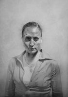 "Erica I, framed graphite drawing, 48""x40"""