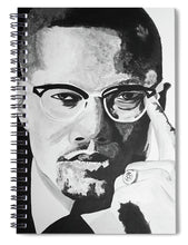 Load image into Gallery viewer, Malcom X - Spiral Notebook