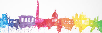 Colorful DC Skyline Original Painting