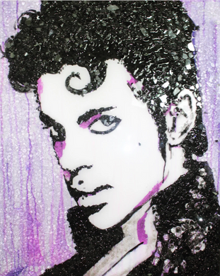 Prince - Crushed Glass Original Piece in Private Collection at Manhattan, New York