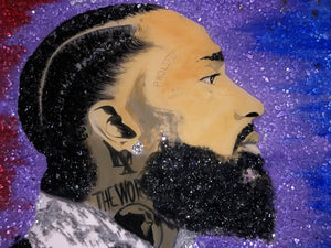 """Nipsey - Broken Glass"" Original Piece in Private Collection at Missouri City, Texas"