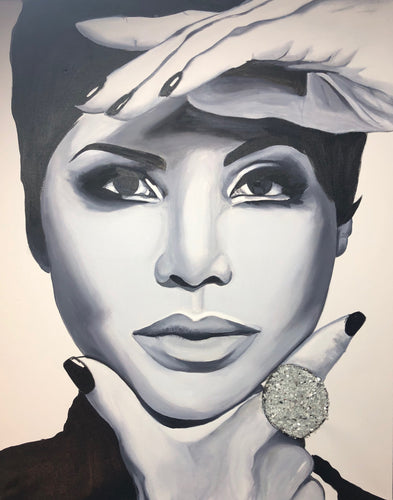 Toni Braxton - Original Oil Painting