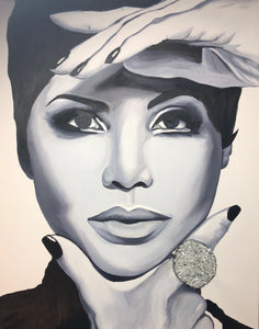 Toni Braxton - Original Oil Painting in Private Collection in Toronto, Canada