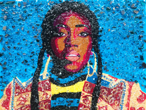 """Missy Misdemeanor Elliott"" - Orignal Painting in Private Collection at Portsmouth, VA"