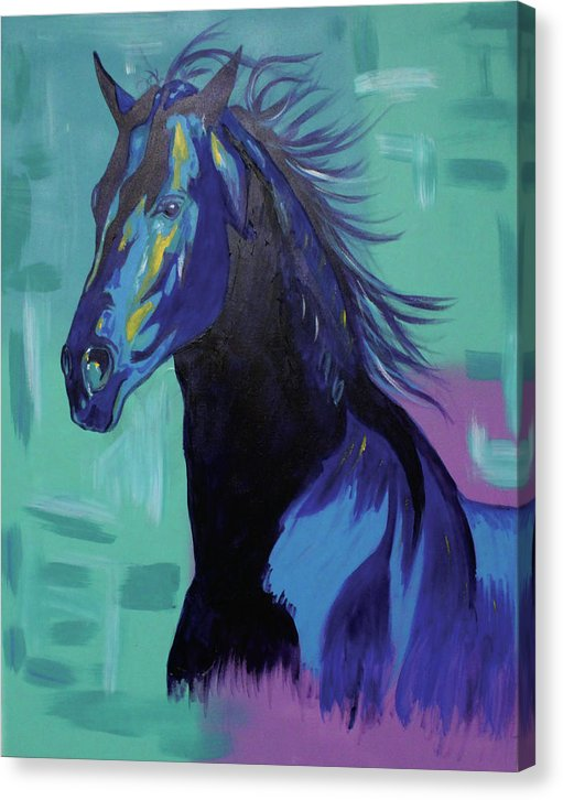 Blue Stallion  - Canvas Print