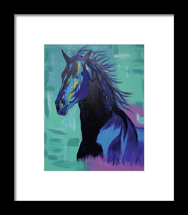 Blue Stallion  - Framed Print
