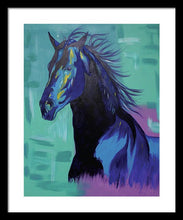 Load image into Gallery viewer, Blue Stallion  - Framed Print