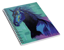 Load image into Gallery viewer, Blue Stallion  - Spiral Notebook