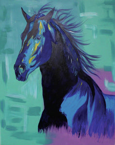 Blue Stallion  - Art Print