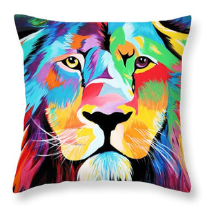 King Of Courage  - Throw Pillow