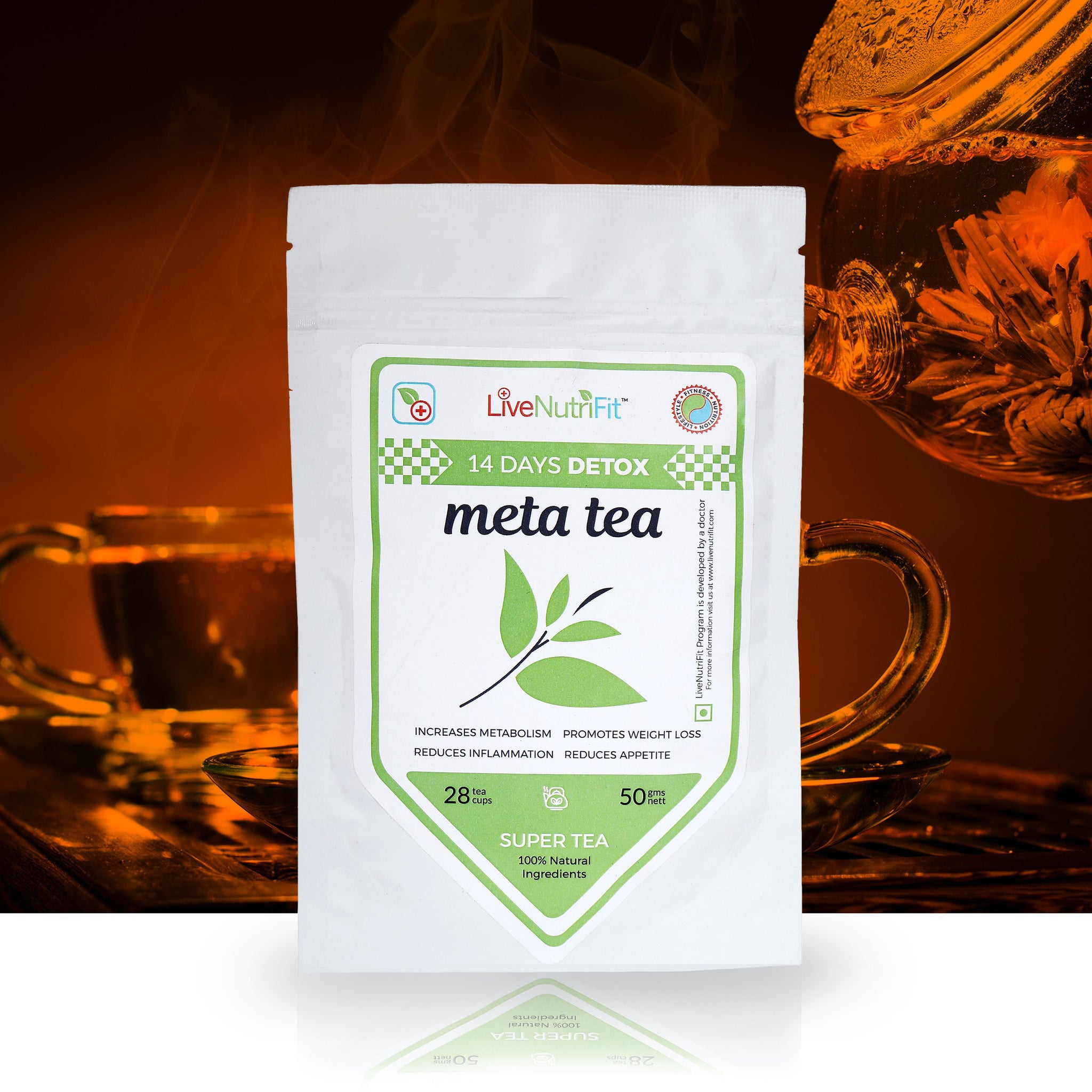 Buy online META TEA FOR WEIGHT LOSS - SUPER TEA WITH GARCINIA CAMBOGIA, price in India