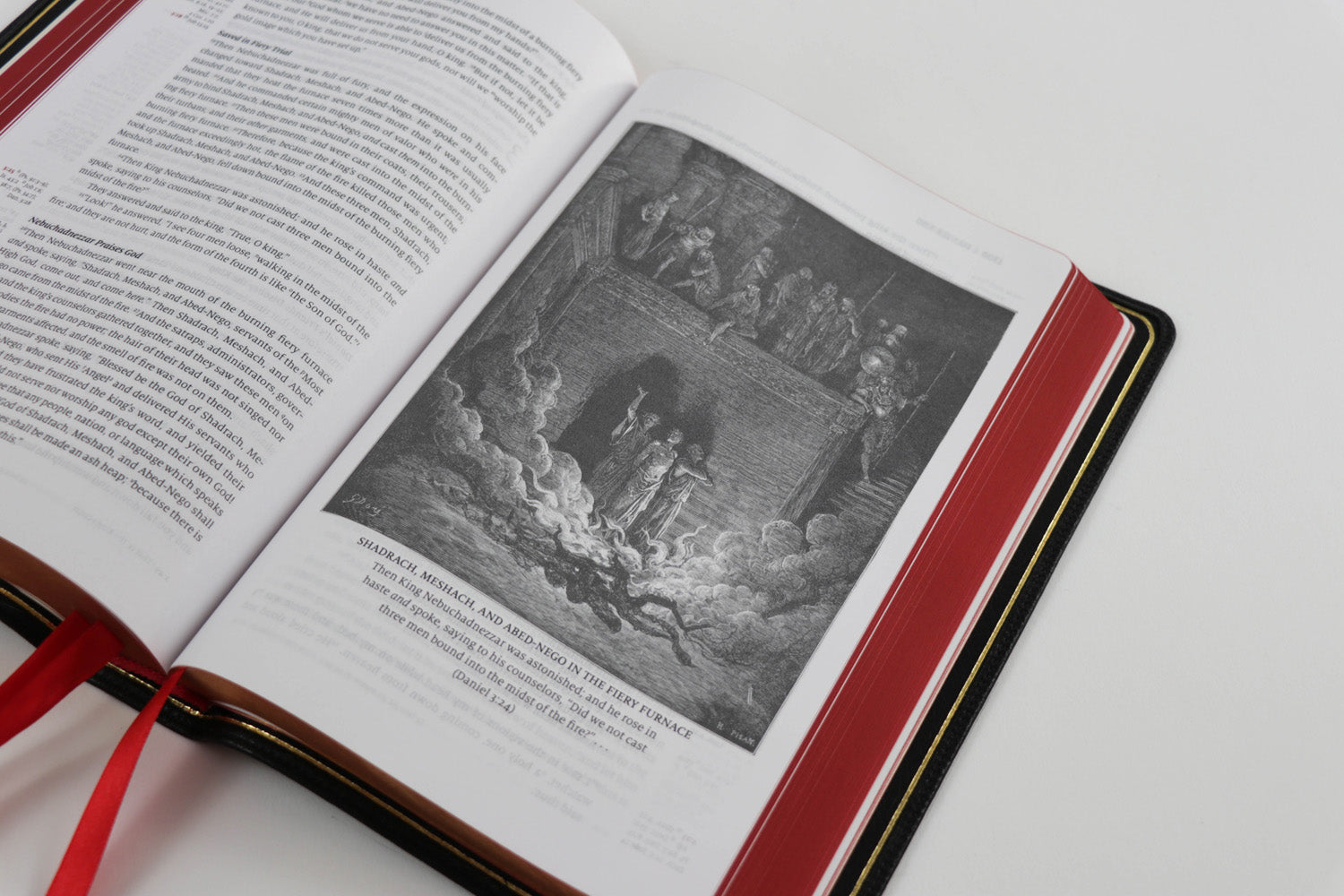 Word of God - Cardinal Red Edition - Premium Bible with illustrations from Gustave Dore