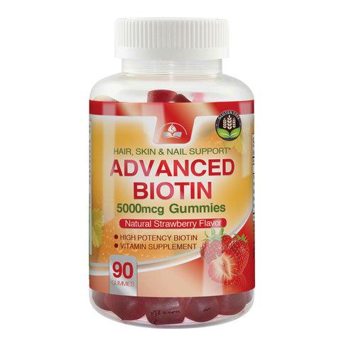 Advanced Biotin Gummies 5000mcg (90 gummies)