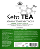 Keto Tea for Fasting - High Performance - Caffeine Free- Weight Management (Naturally Sweetened)