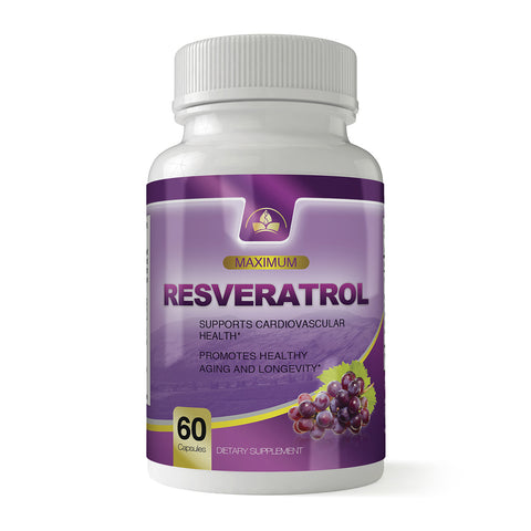 Super Resveratrol 1200mg Maximum Strength (60 Veggie Capsules)