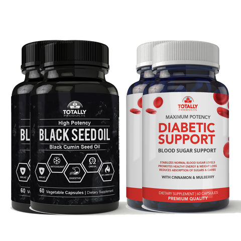 Diabetic Support plus Black Seed Oil Combo Pack (2 sets)
