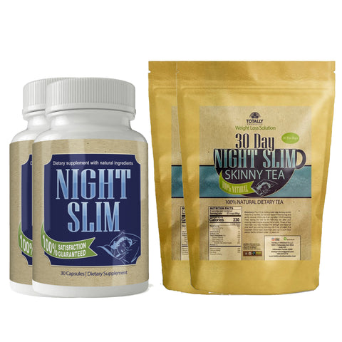 Night Slim Weight Loss (30 Capsules) and Night Slim Skinny Tea (30 tea bag) Combo Pack (2 sets)