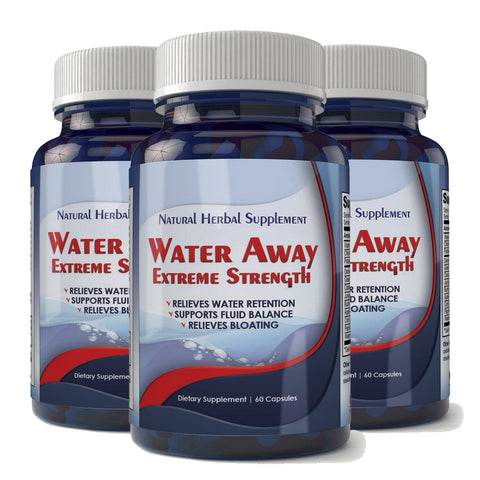 Water Away Natural Diuretic Water Pill (3 bottles)