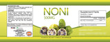Noni Fruit Concentrate 500 MG Immune Health and Cellular Support (60 Powder Capsules)