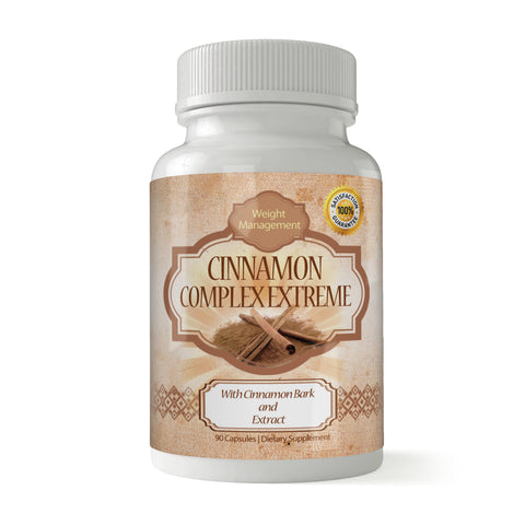 Cinnamon Bark Extract High-potency Dietary Supplement (90 Capsules)