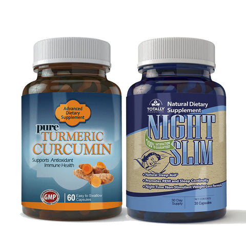 Turmeric Curcumin and Night Slim Combo Pack