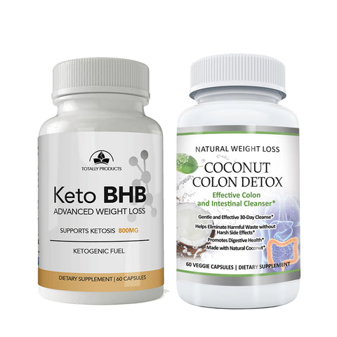 Keto BHB and Coconut Colon Cleanse Combo Pack