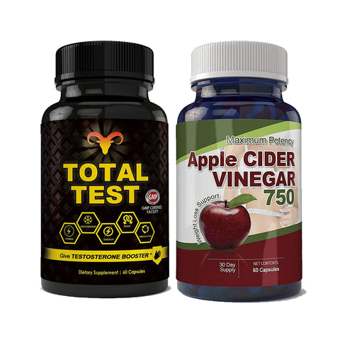 Total Test Testosterone Booster and Apple Cider Vinegar Combo Pack
