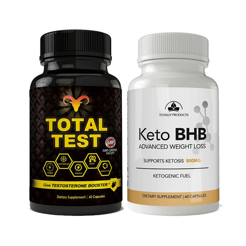 Total Test Testosterone Booster and Keto BHB Combo Pack