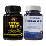 Total Test Testosterone Booster and Parasite Blast Combo Pack