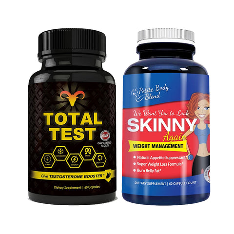 Total Test Testosterone Booster and Skinny Again Combo Pack