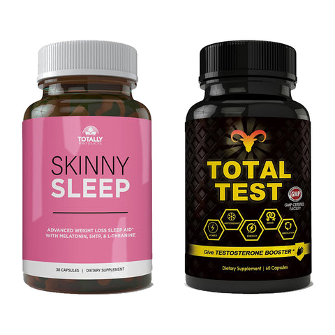Skinny Sleep and Total Test Testosterone Booster Combo Pack