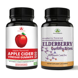 Black Elderberry Gummies Immune Booster and Apple Cider Gummies Combo Pack