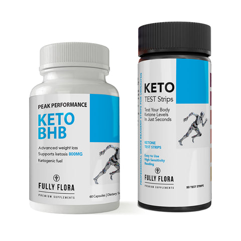 Fully Flora Keto Strips and Keto BHB Combo Pack