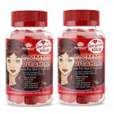 TotallyProducts Gorgeous Hair Gummy Vitamins with Biotin 5000 mcg (60ct Cherry Flavor)