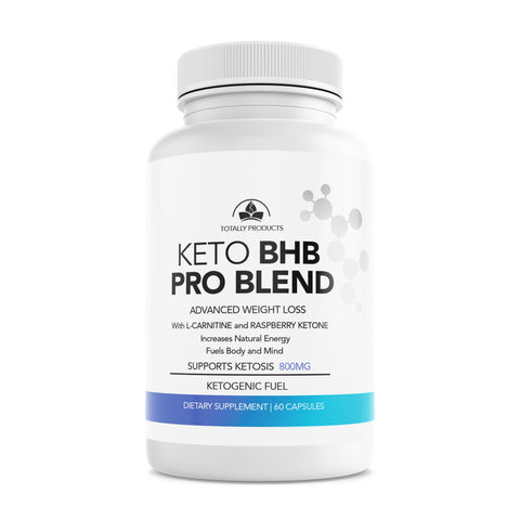 Totally Products Keto BHB PRO Blend with Raspberry and L-Carnitine for Weight Loss