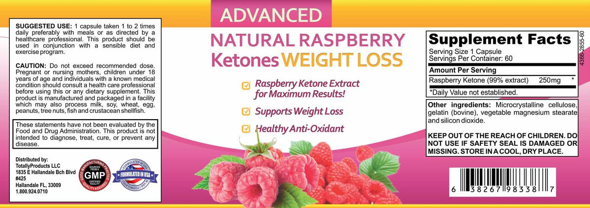 Raspberry Ketones Weight Loss And Fat Burning Supplement 60