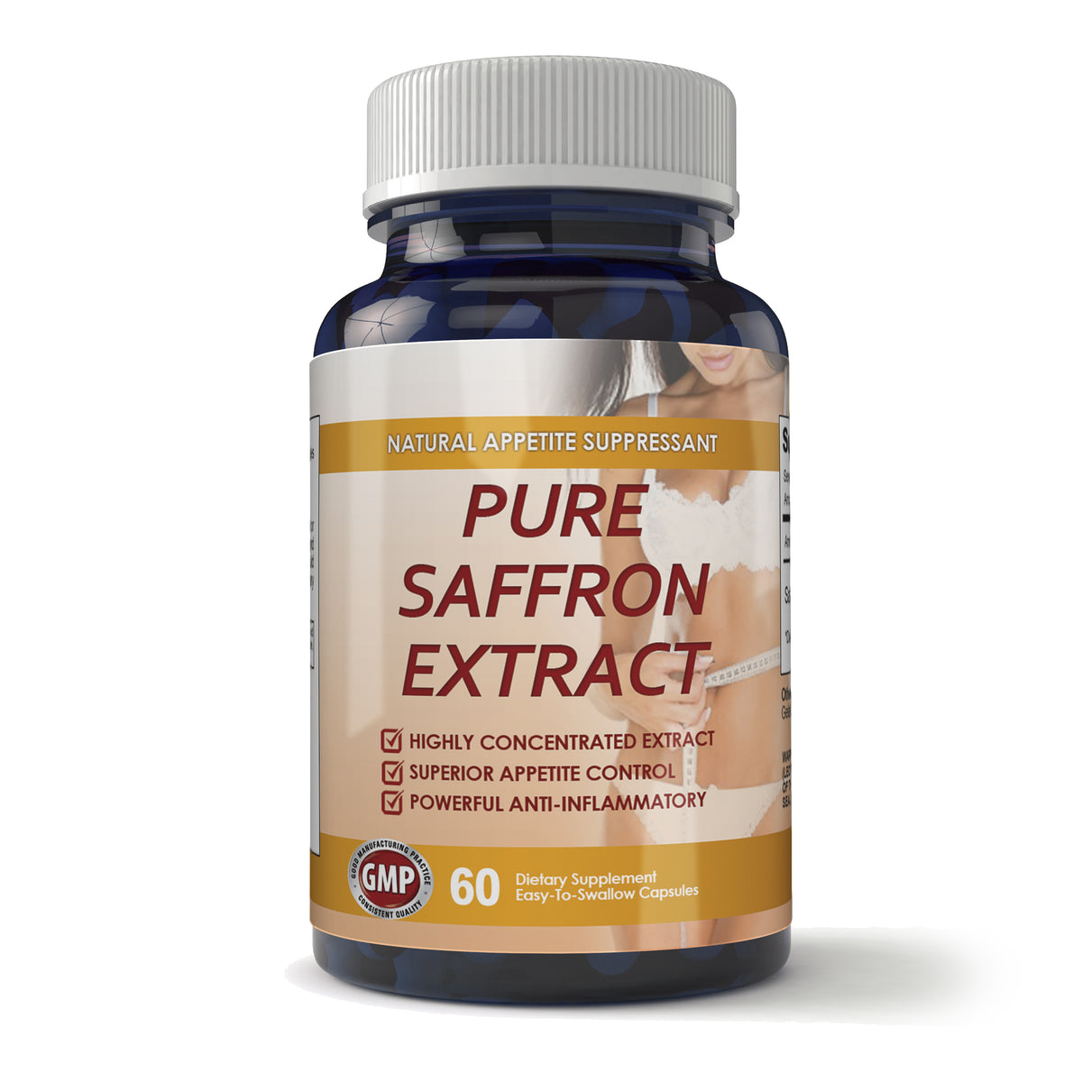 Pure Saffron Extract 60 Capsules Totally Products