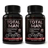 Total Man 1600mg-For increased Performance and Desire with Maca Root Powder, Tribulus & Tongkat Ali-Natural aphrodisiac and Libido booster (60 Capsules)